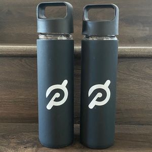 Peloton Set of 2 Glass Water Bottles - Never Used
